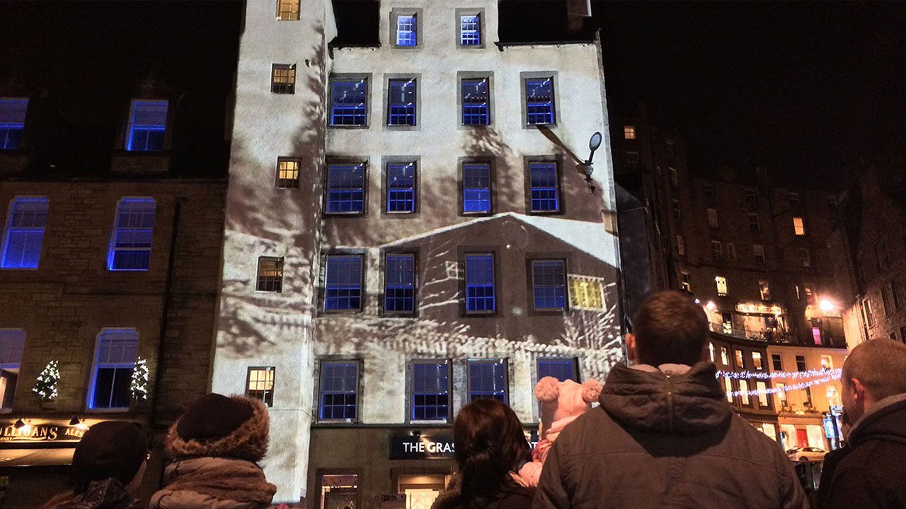 Grassmarket Christmas Projection Mapping