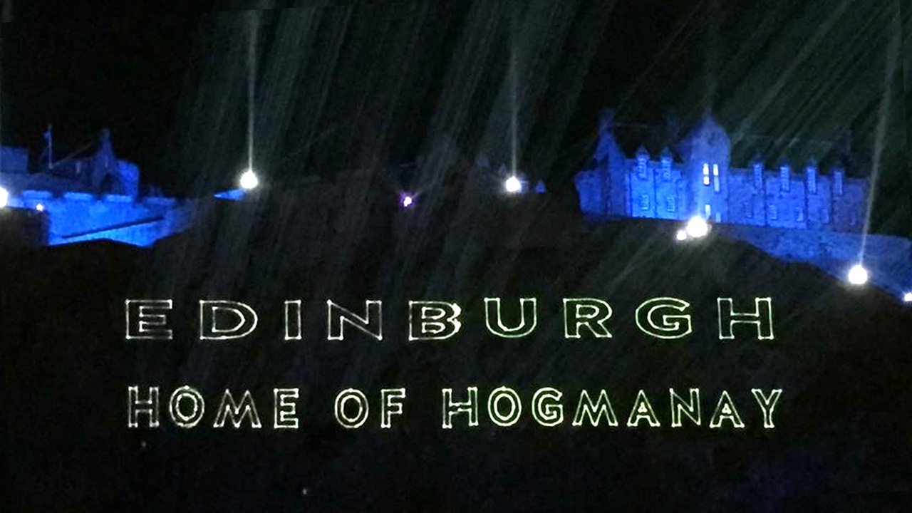 Edinburgh's Hogmanay Laser Display