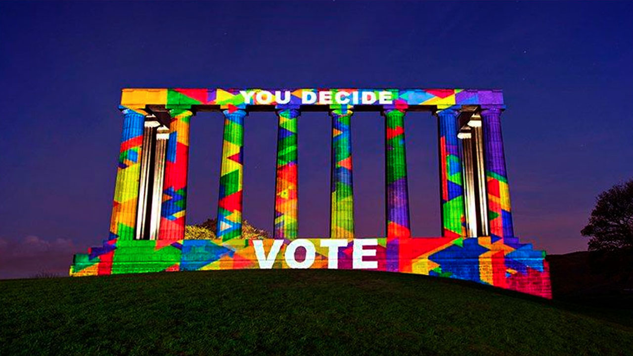 Election Campaign Projection Mapping