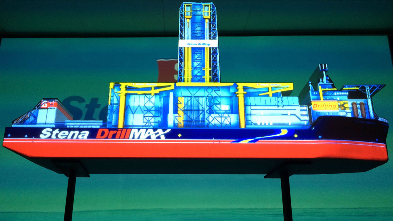 Stena Drillship 3D Projection Mapping